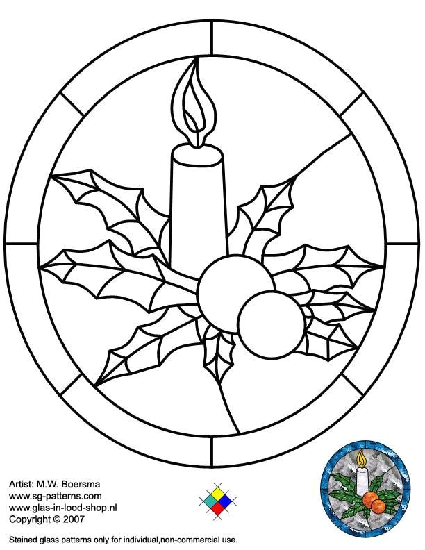 Christmas Stained Glass Window Templates Stained Glass Patterns for Free Christmas Glass Pattern
