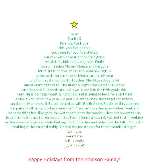 Christmas Tree Shape Poem Template Make Your Christmas Letter In the Shape Of A Christmas