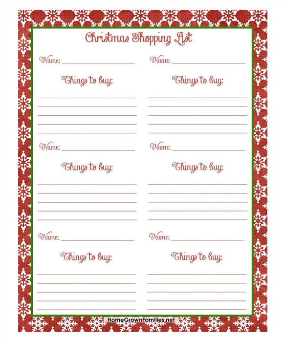 Christmas Wish List Template Pdf 24 Christmas Wish List Template to Fill Out by Everyone