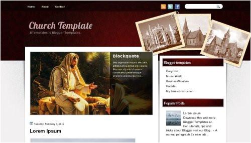 blogger template church template