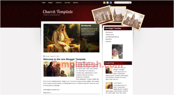 church template blogger template