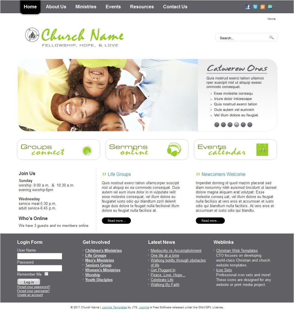 Church Blogger Template Cto Church 0176 Joomla Templates Website Templates Free