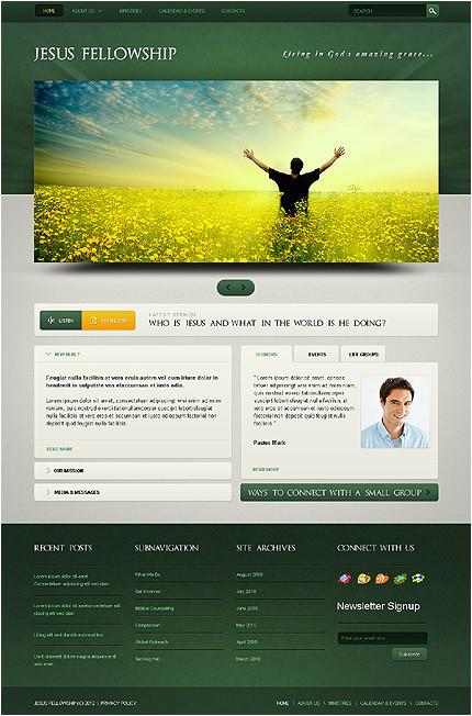 graceful church christian website templates