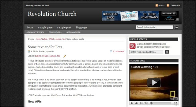 revolution church blogger new