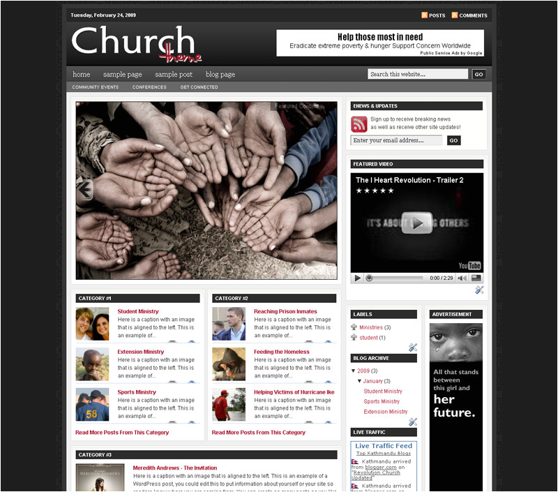 revolutiontwo church blogger template v2 giong hoan toan phien ban danh cho