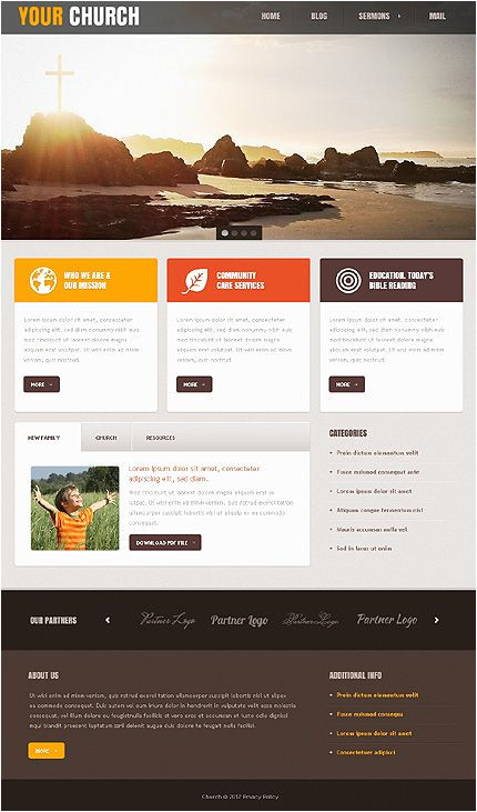 Church Blogger Template Template 40671 Church Joomla Template with Drop Down