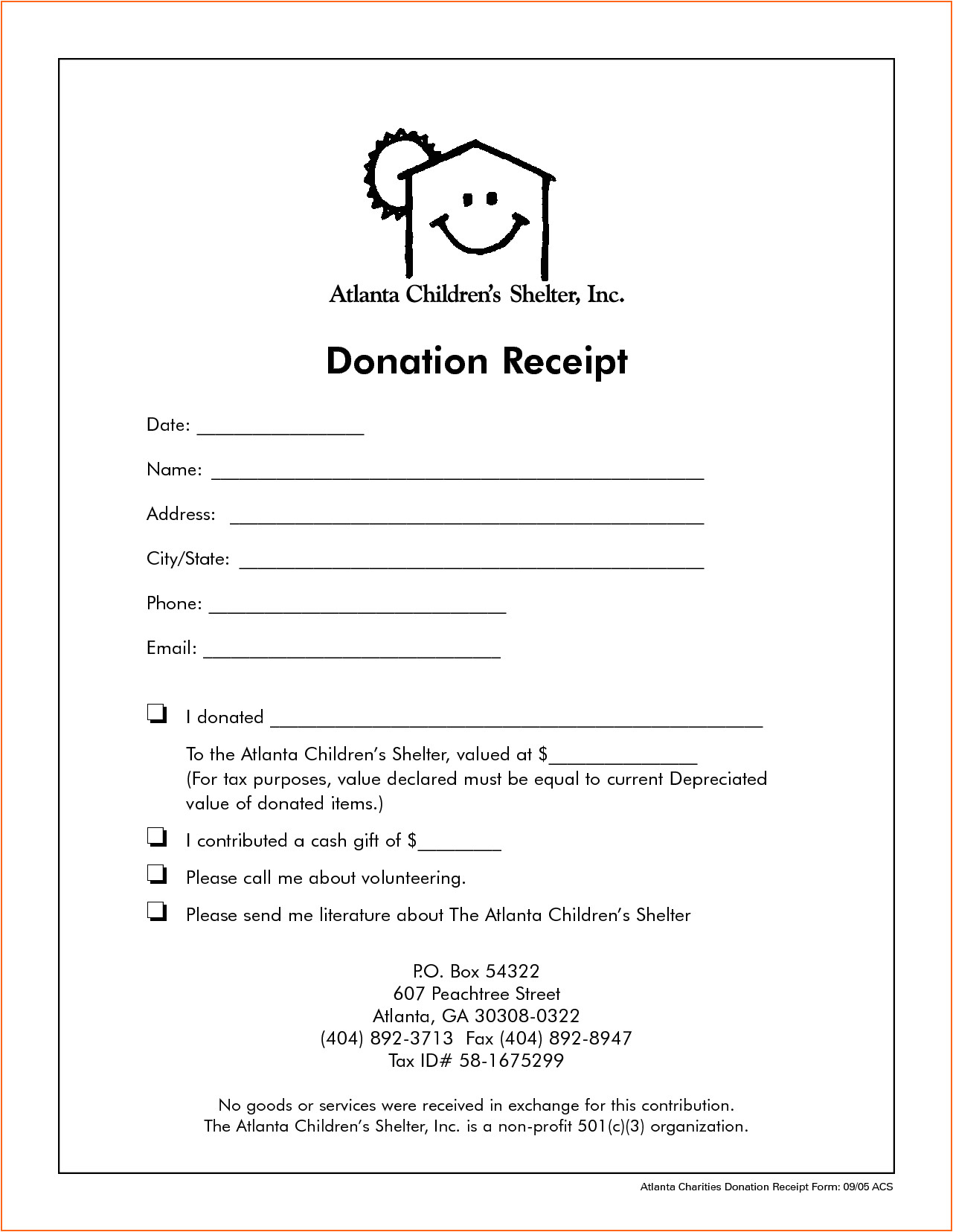 7 church donation receipt template