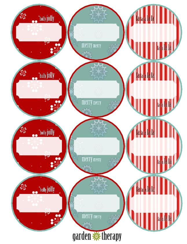 chutney labels for christmas