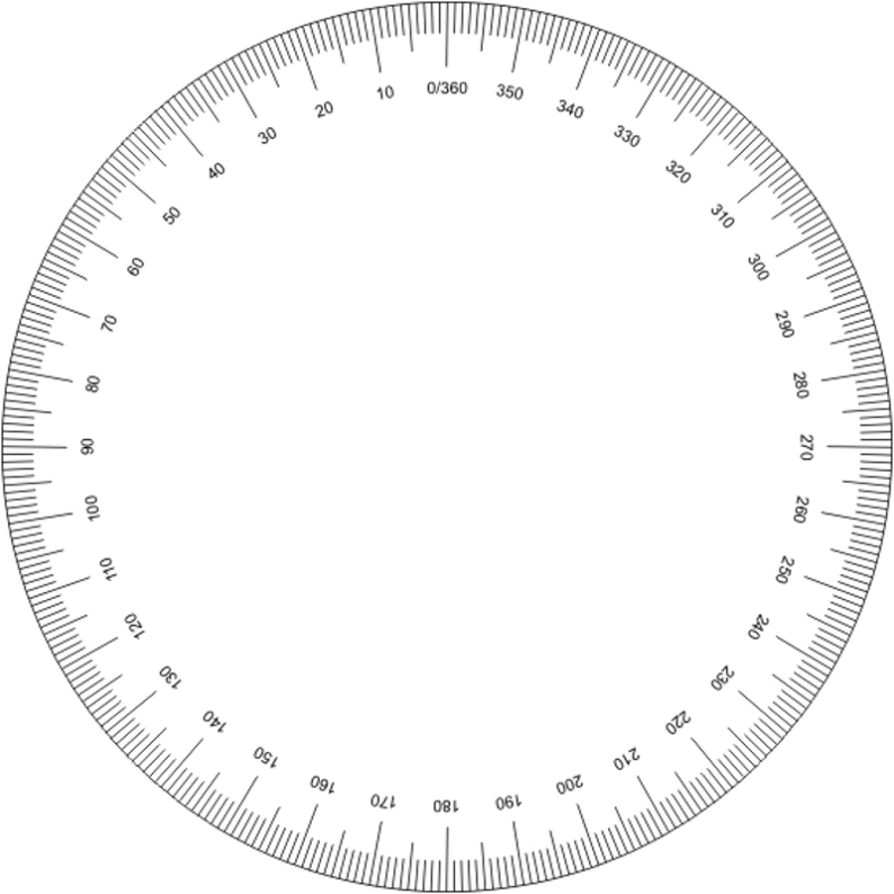 free printable protractor 180 360 pdf with ruler