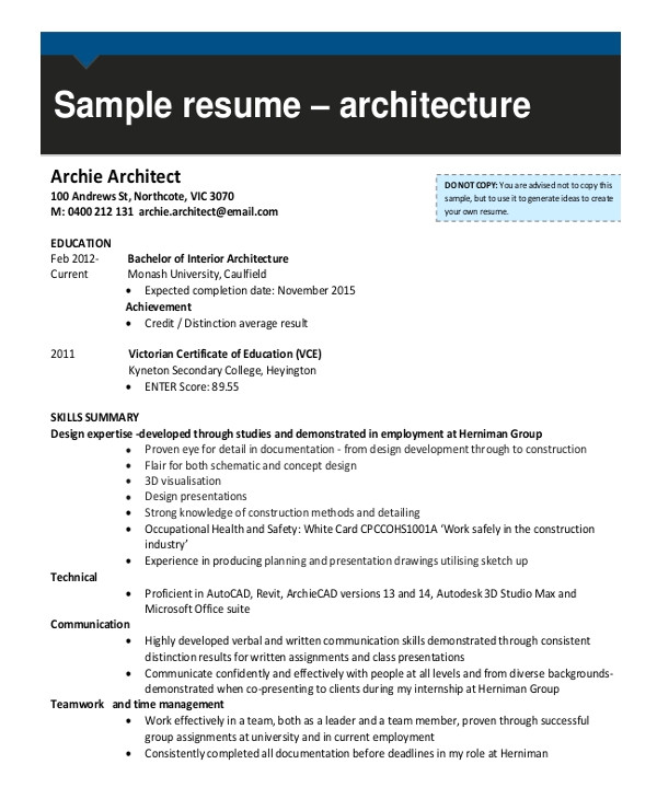 draftsman resume