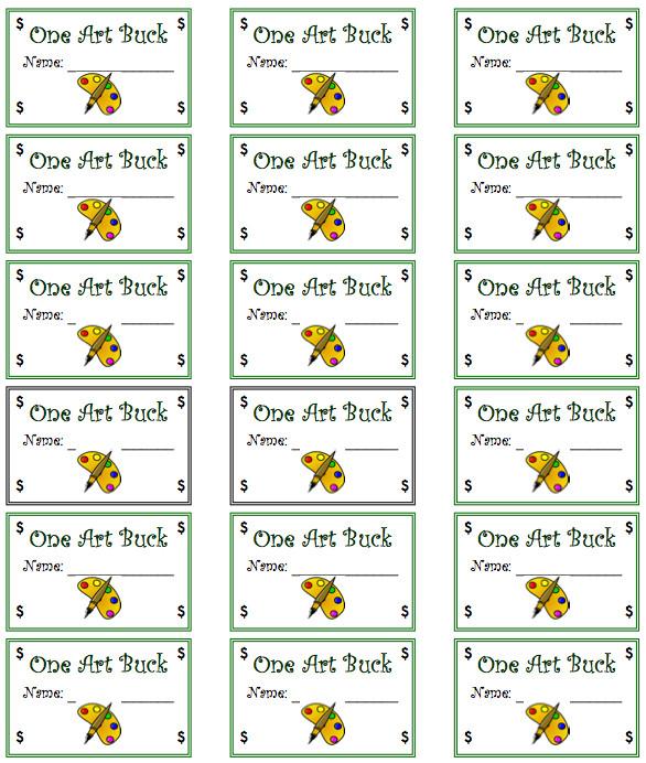 free misc lesson art reward bucks for