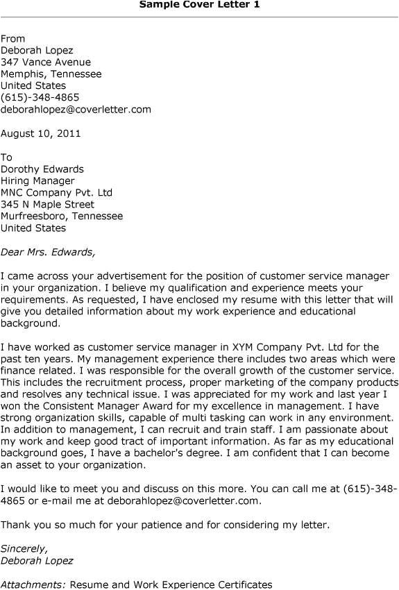 Client Service Coordinator Cover Letter Cover Letter Examples Customer Service Manager