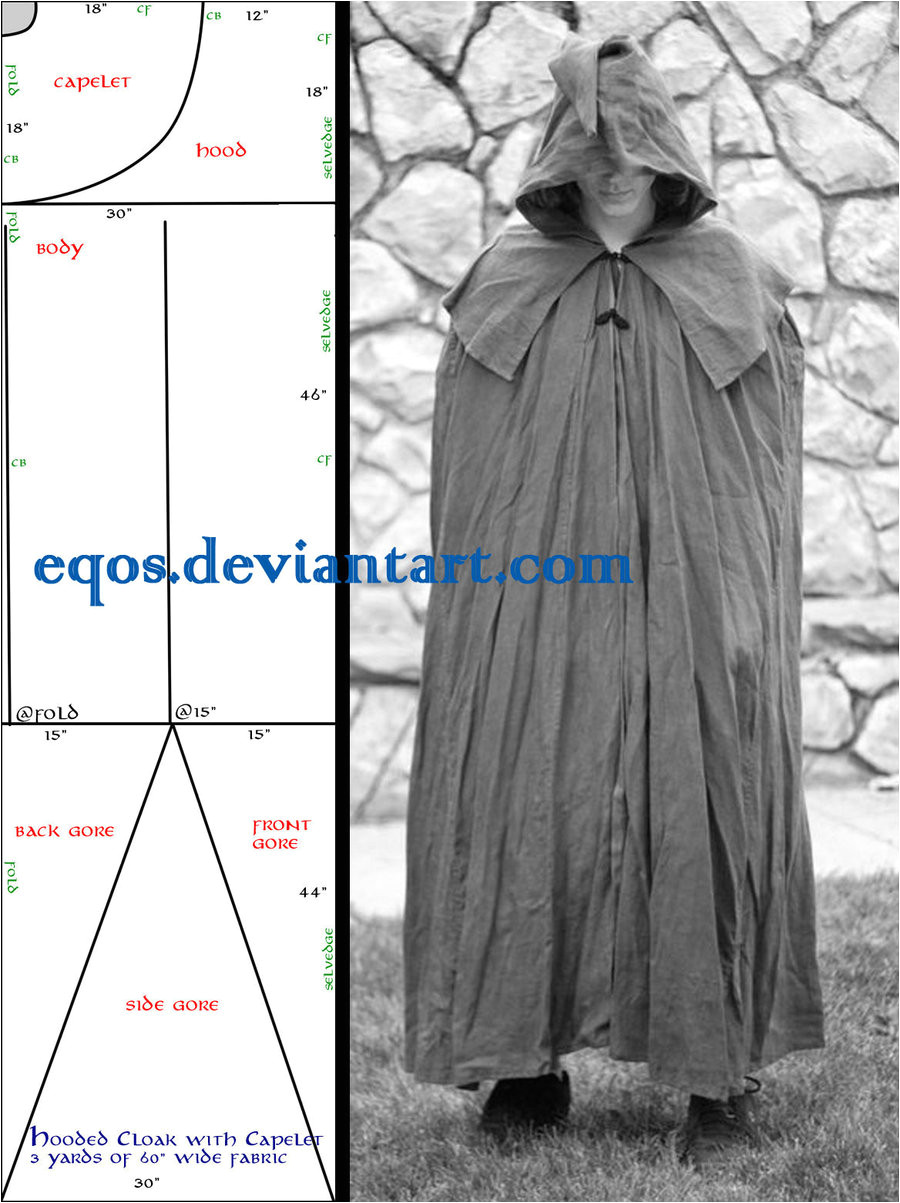 pattern cloak with capelet 197937801