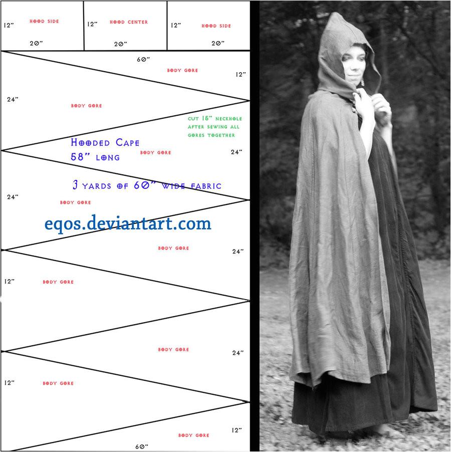 pattern gored cloak 197938767