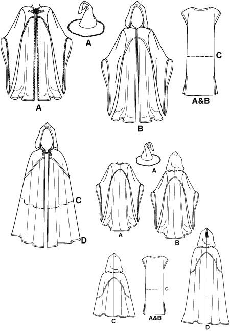 Cloak Template Simplicity 9887