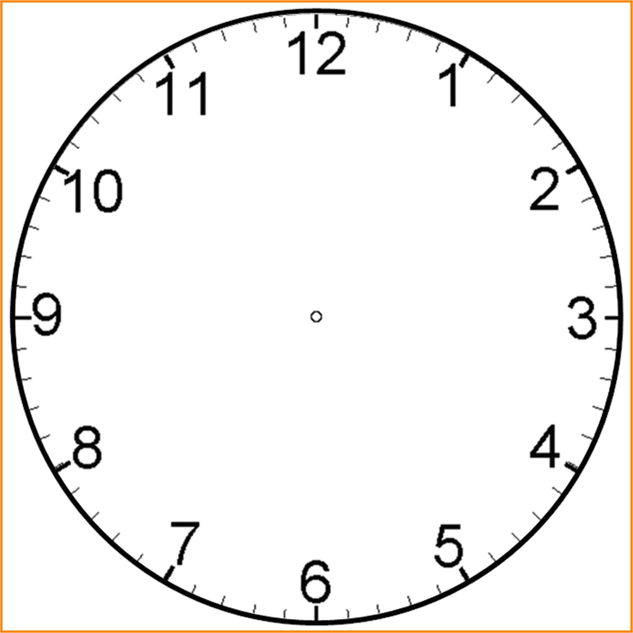6 blank clock face