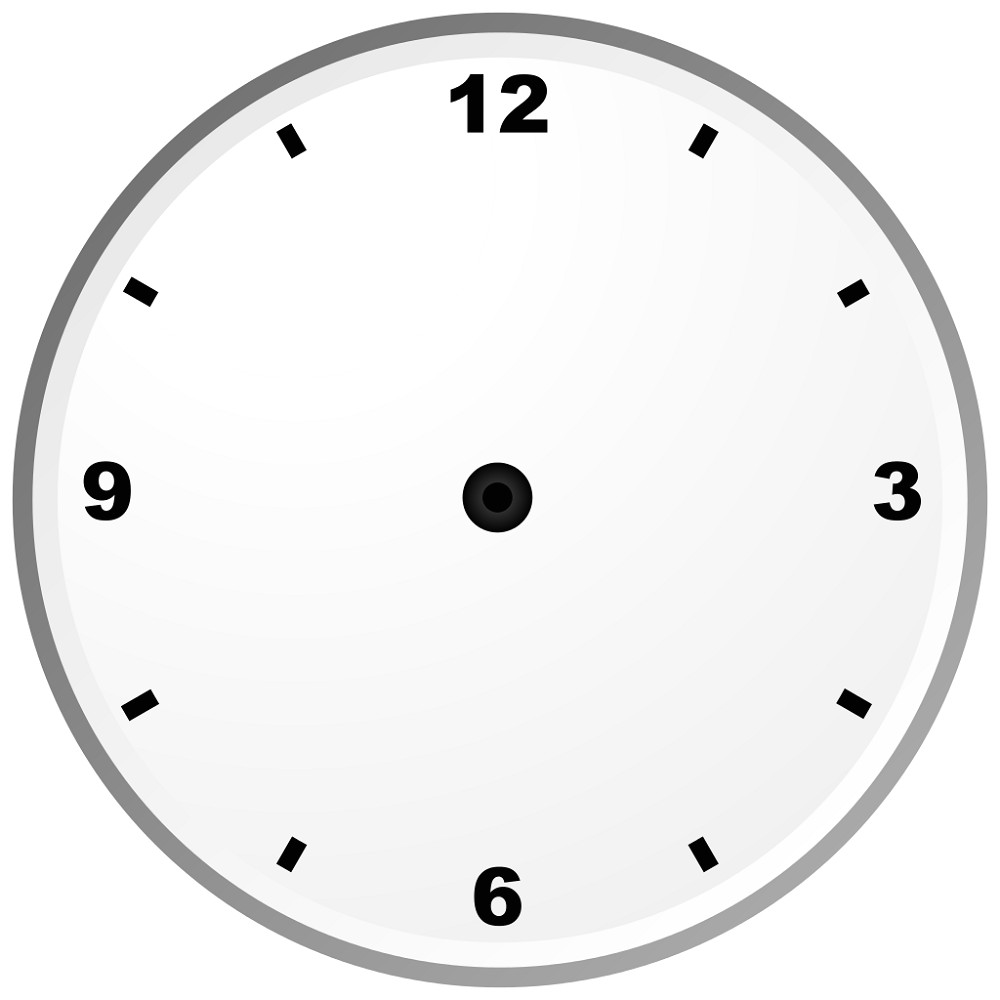 blank clock template high quality