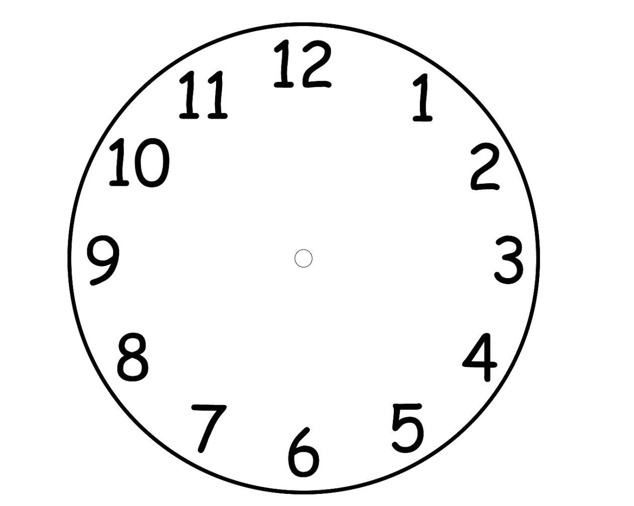 Clock Face Templates for Printing Printable Clock Face Template Pdf
