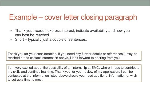 cover letter closing paragraph examples