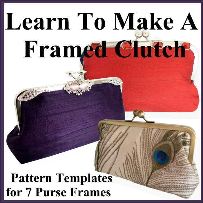 clutch purse pattern with templates for