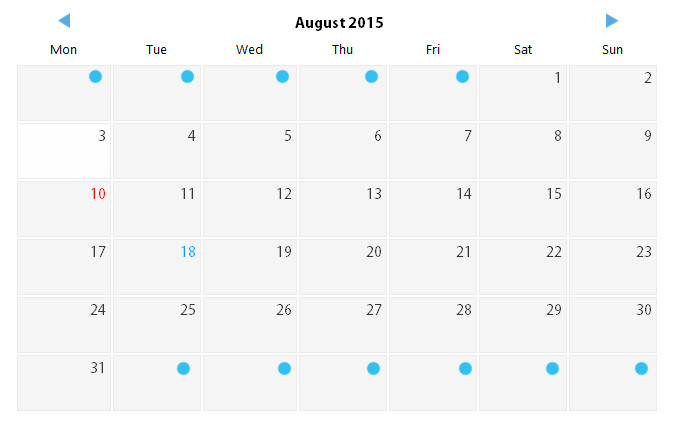 how to fill previus and next months days in current month empty cell by codeigni