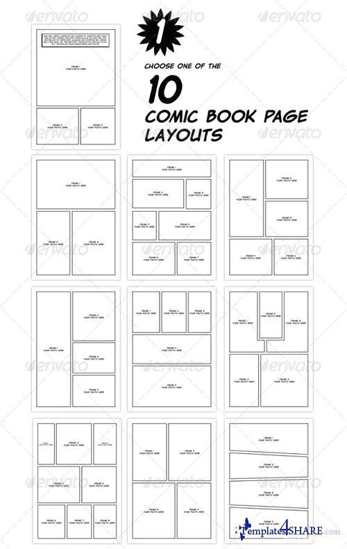 4704 graphicriver comic book creation kit black white