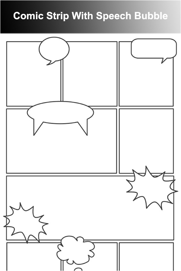 Comic Strip Bubble Template 41 Comic Strip Template Word Best Photos Of Comic Book