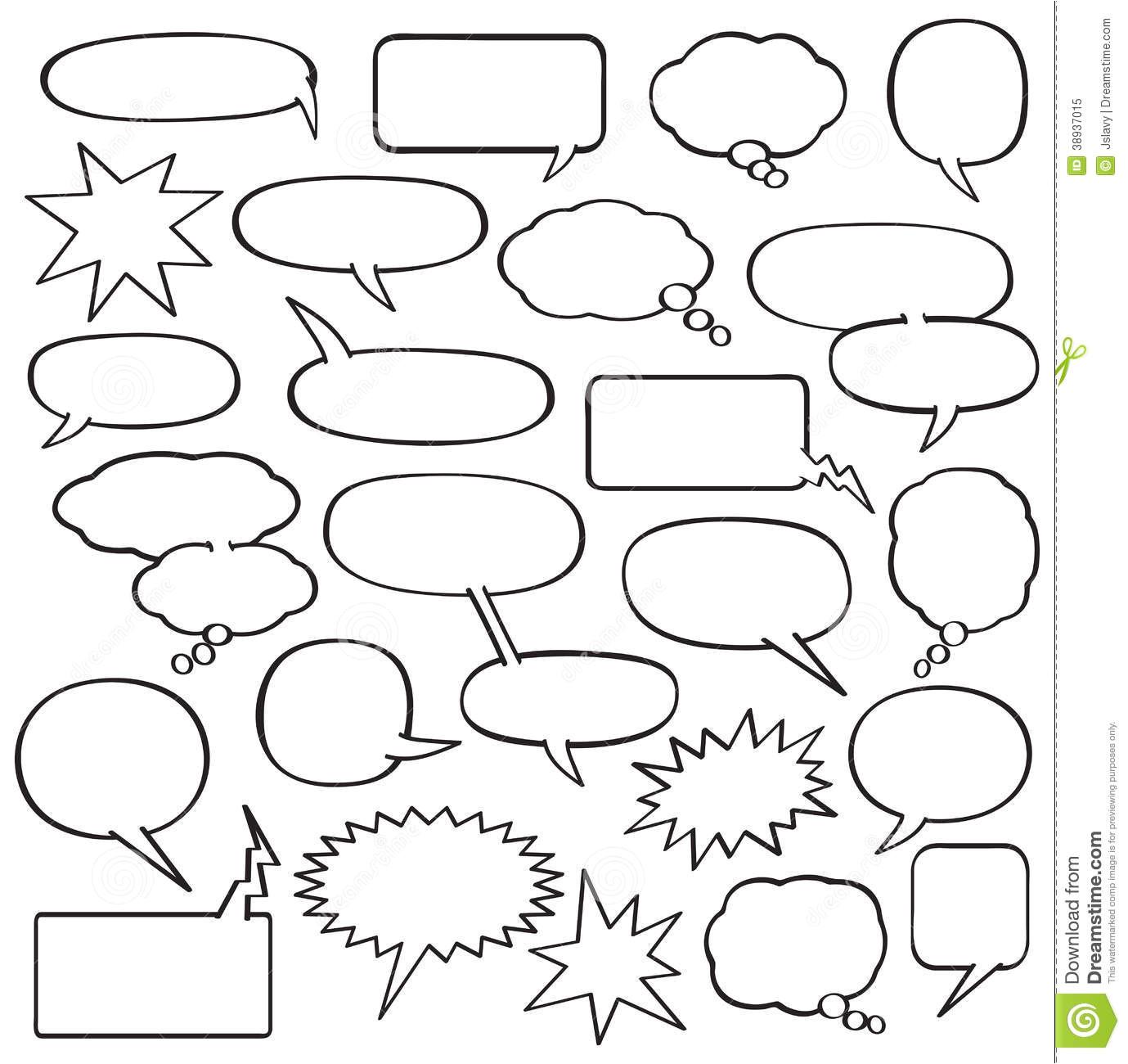 Comic Strip Bubble Template 7 Best Images Of Comic Strip Bubbles Printable Comic