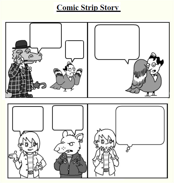 Comic Strip Bubble Template 7 Comic Strip Samples Sample Templates