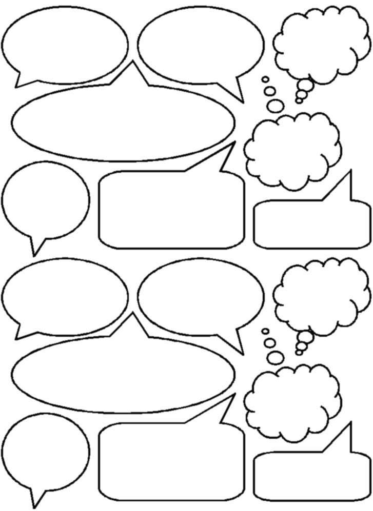Comic Strip Bubble Template Bubbles Would Be Cute to Put these Into the Writing