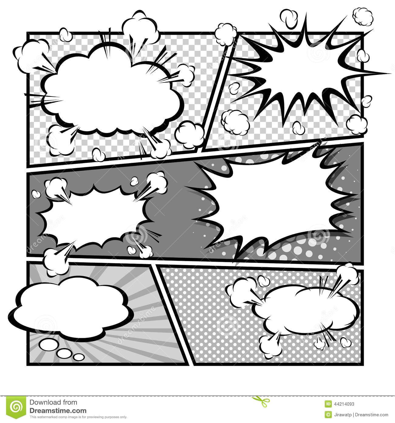 stock illustration comic speech bubbles vector illustration bubble template cartoon illustrator eps image44214093