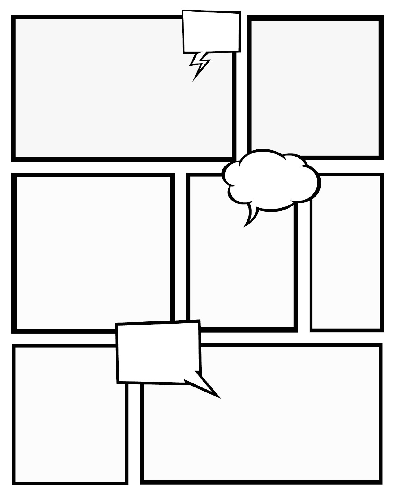 Comic Strip Template Maker 7 Best Images Of Comic Book Templates Printable Free