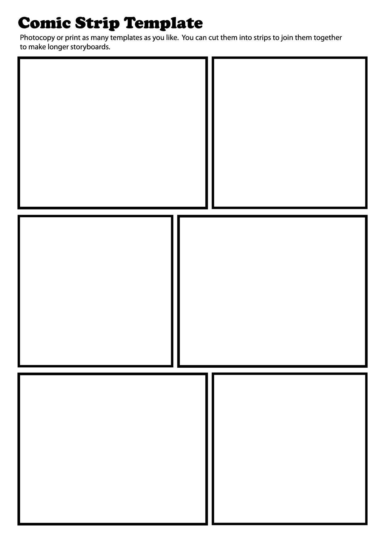 post free printable comic strip creator 330590