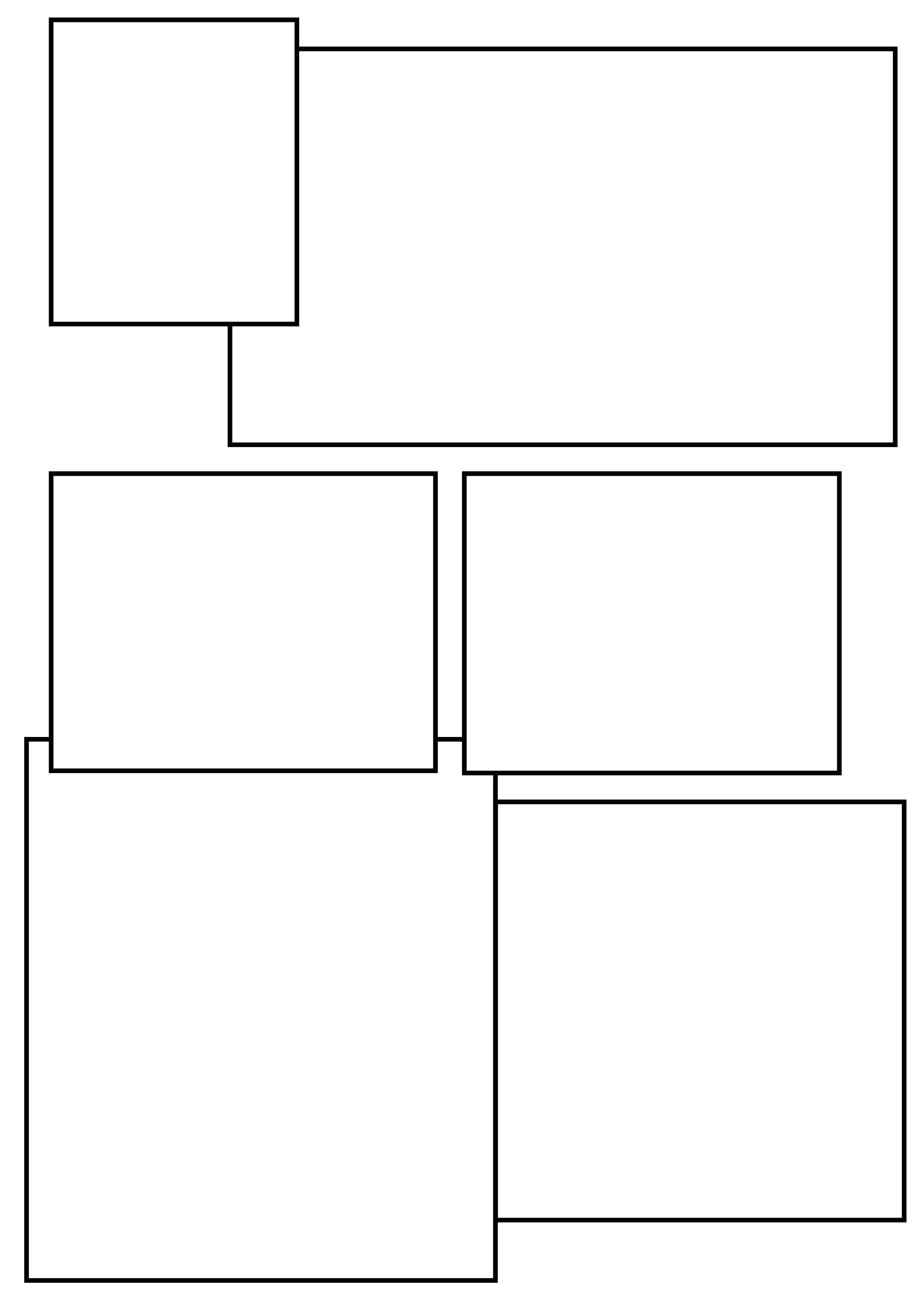 setting out layouts for the comic strip