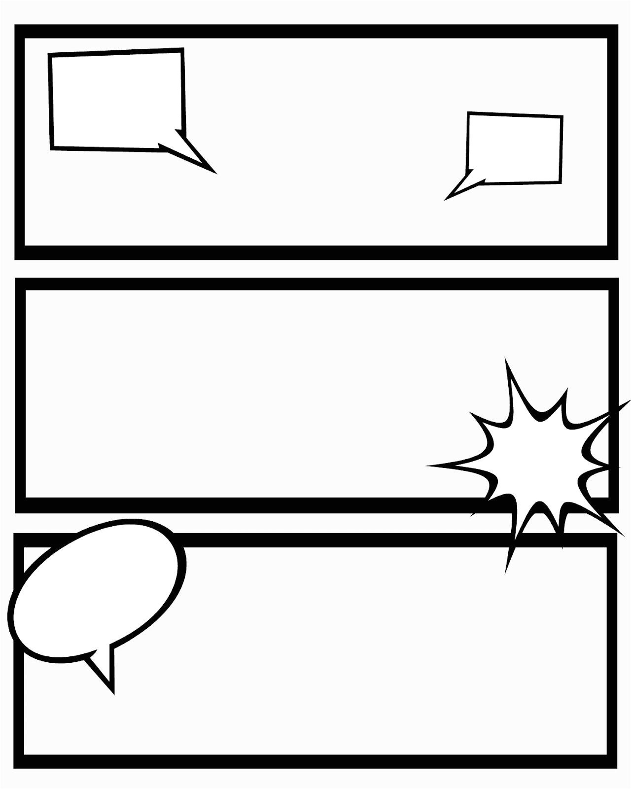 Comic Template Creator Printable Comic Strips for Narration Sweet Hot Mess