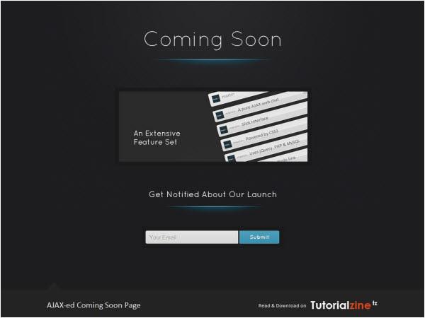 coming soon templates tutorials