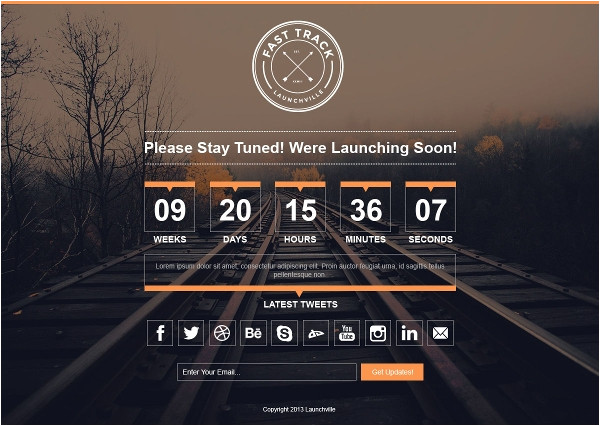 Coming soon Page Template WordPress 12 Coming soon WordPress themes Templates Free