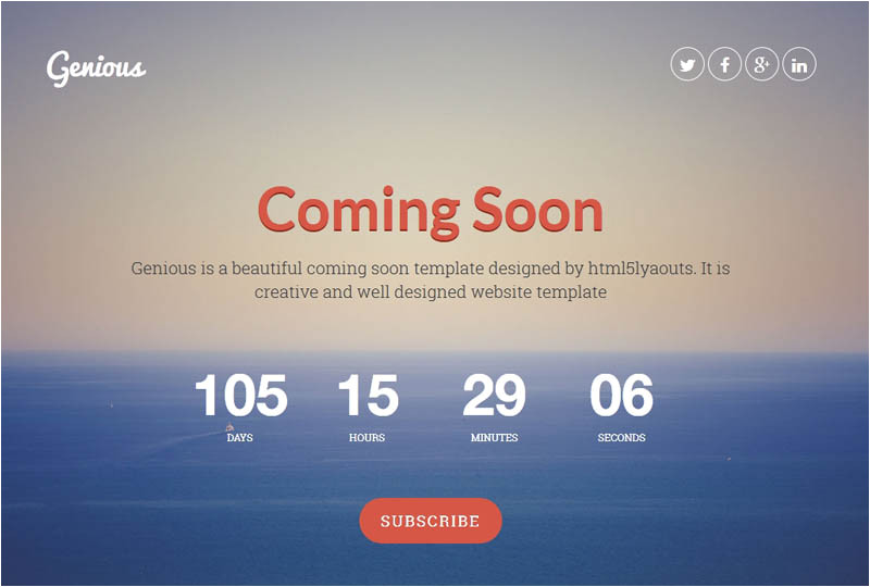 Coming soon Page Template WordPress 25 Best Coming soon HTML Templates for Free Download and