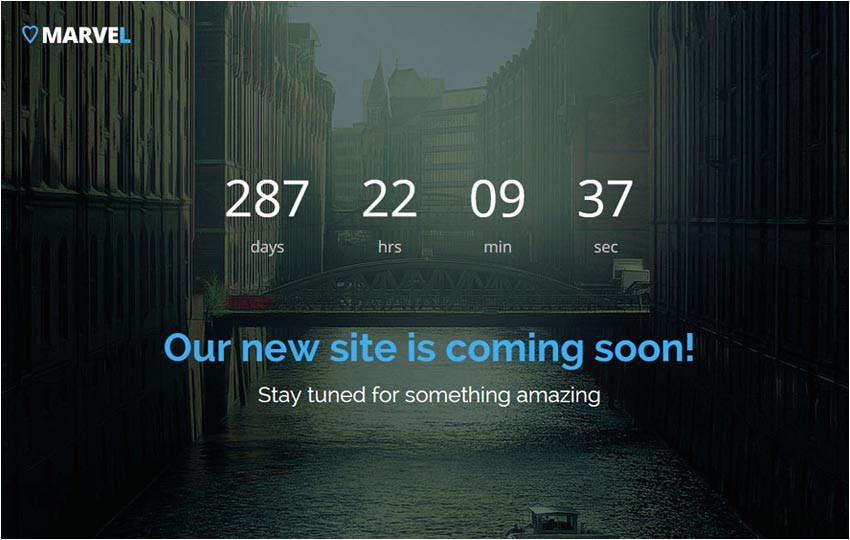 Coming soon Page Template WordPress Free Bootstrap Coming soon Template Webthemez