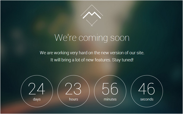 Coming soon Page Template WordPress Mira Coming soon WordPress theme Wrapbootstrap