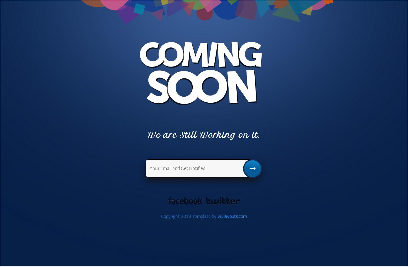 coming soon maintenance under construction templates