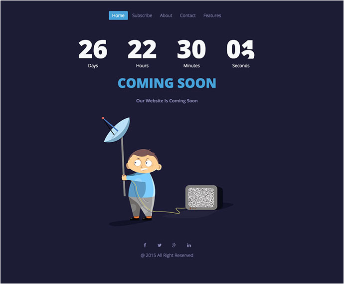 43 cool html coming soon templates