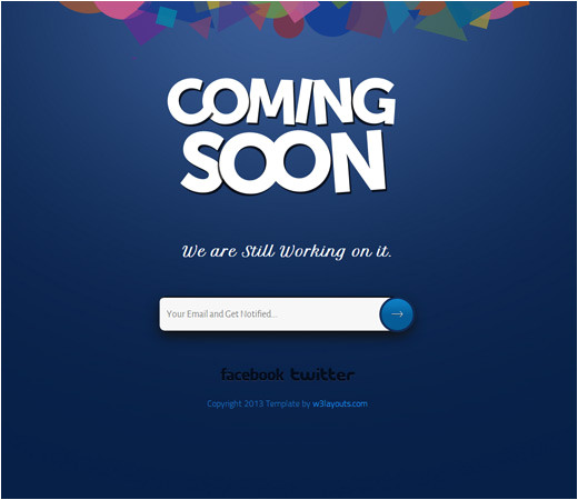coming soon under construction html templates