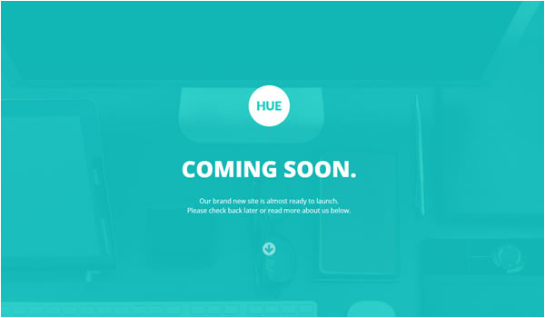 responsive coming soon page templates