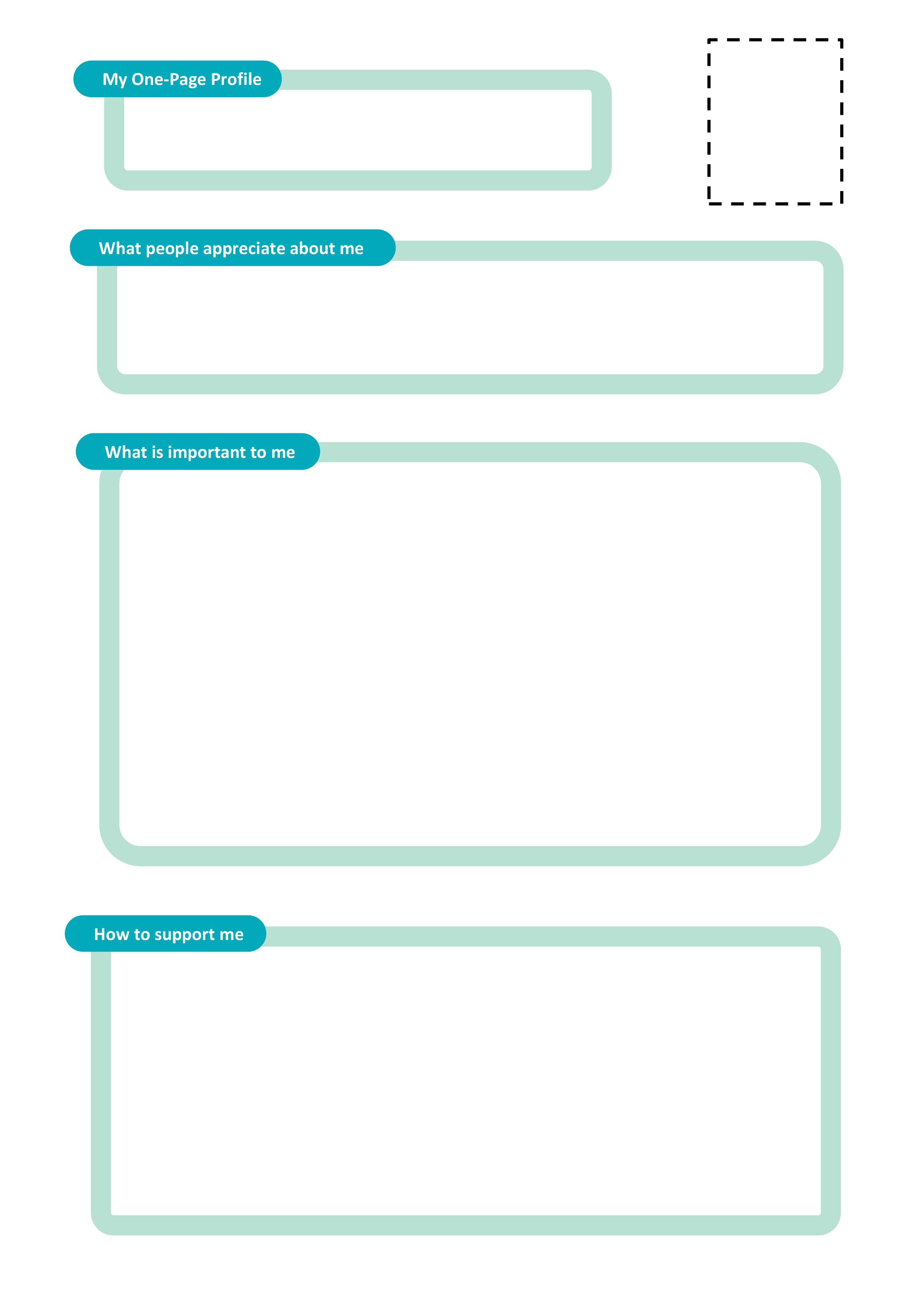 Communication Profile Template One Page Profile Templates Helen Sanderson associates