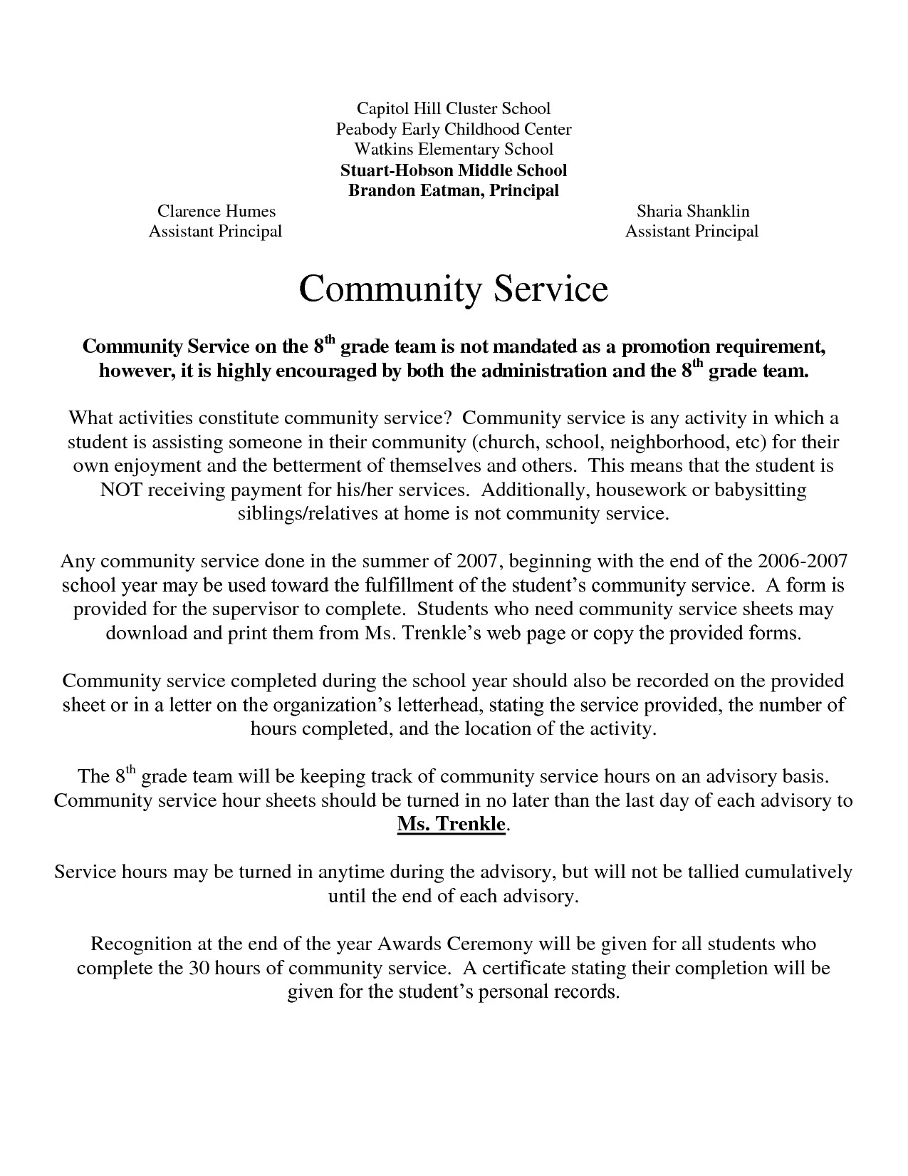 post example community service letters 374193