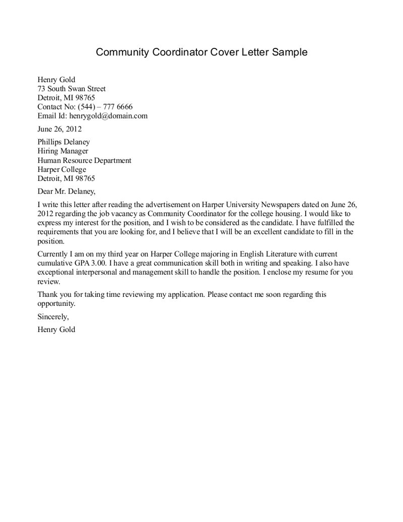 Community Service Cover Letter Examples Community Service Letter Template Beepmunk