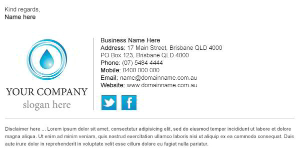 Company Email Signature Template Email Signature Design Tips the Edge Of Creativity and