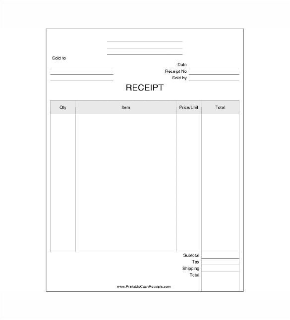 business receipt template