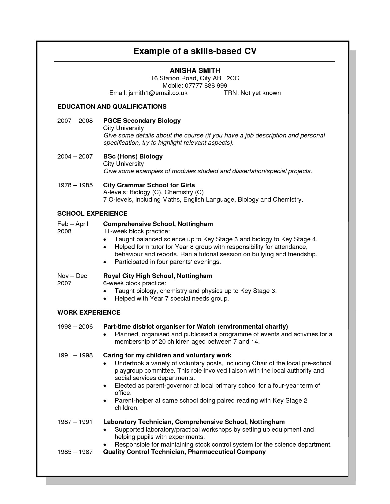 competency based resumes pdf